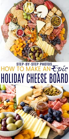 How to Make an Epic Holiday Cheese Board in 10 minutes How . - How to Make an Epic Holiday Cheese Board in 10 minutes How to Make an Epic Hol - Charcuterie Recipes, Charcuterie And Cheese Board, Charcuterie Platter, Cheese Boards, Antipasto Platter, Holiday Appetizers, Appetizer Recipes, Holiday Recipes, Nye Recipes
