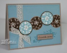 this is a really cute card with circles. I love circles but always have trouble figuring out a way to use them on a card. this is a great way to use scraps too!