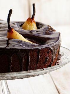 Chic, Chic, Chocolat...: Merveilleux gâteau au chocolat, amandes et poires