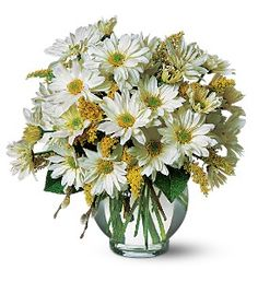 Like a little sunshine, daisies spread their good cheer to everyone close by. Repinned by: VilleresFlorist.com