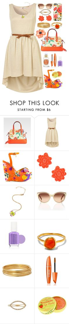 """""""Garden Party"""" by ohsosartorial on Polyvore featuring Kate Spade, WalG, Iron Fist, Topshop, Alexis Bittar, Chloé, Essie, Monica Vinader, Bold Elements and Mrs. President & Co."""
