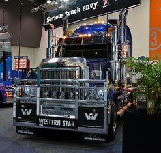Custom Truck Beds, Custom Trucks, Mack Trucks, Big Rig Trucks, Western Star Trucks, Truck Festival, Jeep Stickers, White Truck, Road Train
