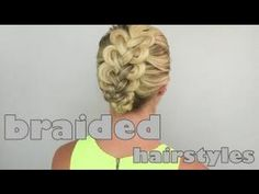 Loop braids - braided hairstyles - YouTube.  Not sure if you can do this with shorter hair, but I'm gonna try.