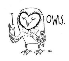 'I <3 Owls' by Jules