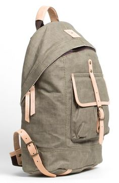 Men's Will Leather Goods Canvas Backpack - Beige