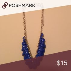 Blue statement necklace Blue statement necklace. Gorgeous on Jewelry Necklaces