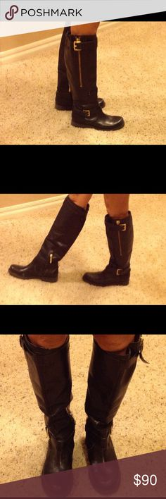 GUESS leather boots size 6 Great condition just a tiny scuff marks...in last pic. It can be taken care with leather stains ( Lowes ) Guess Shoes Over the Knee Boots