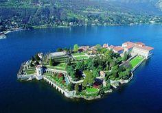 Isole Borromee sul Lago Maggiore - Isola Bella dall alto
