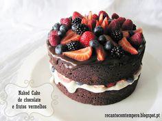 Recanto com Tempero: Naked cake de chocolate e frutos vermelhos