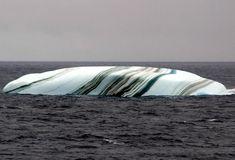 Iceberg Estriado da Antártida