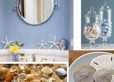 Home decor - nautical beach themed bathroom