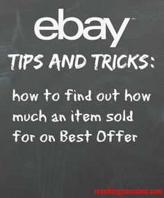 How to tell how much an item sold for on best offer!  When you're doing research, this can come in incredibly helpful!  Pricing can be one of the trickiest parts of selling on eBay and this takes out a bit of the mystery.