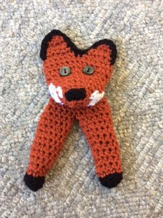 this is my version of the  two finger fox puppet, my 2nd attempt at a fox and I changed the pattern a bit from the original. I used this pattern as a starting point for loads of different characters.
