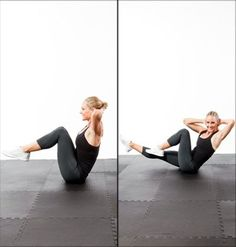 Abs Workout: 5-Minutes to a Flat Stomach - perfect for that before the beach toning health-fitness