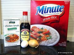 """An easy fried rice recipe using Minute Rice for that """"eat in"""" Chinese meal. Another quick, use what you have on hand, recipe."""