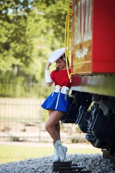Rangerettes - cool pic, but not on a train unless it is one just for that!