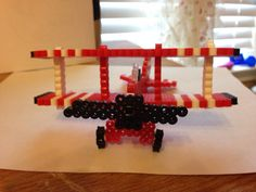 3D Perler Bead Airplane