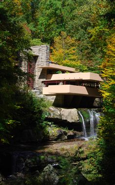 Wright, Frank Lloyd: Fallingwater, Mill Run, Pennsylvania, USA