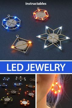 Jewelry Create yourself a unique necklace or earrings in almost any shape that will glow in the dark with LEDs and brass rods. Create yourself a unique necklace or earrings in almost any shape that will glow in the dark with LEDs and brass rods. Diy Jewelry Rings, Diy Jewelry Unique, Diy Jewelry To Sell, Diy Jewelry Making, Unique Necklaces, Pendant Jewelry, Jewelry Crafts, Sell Diy, Jewelry Art
