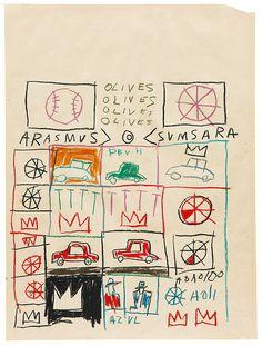 Untitled (Grid) - Jean-Michel Basquiat 1981