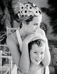 Grace with Albert in Jamaica, 1967.   - TownandCountryMag.com