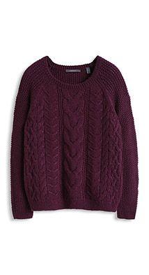 Pull en grosse maille à teneur en laine