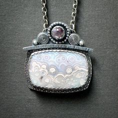 Luna Agate Pink Amethyst Sterling Silver by McComsey Designs, $213.00