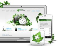 Green Ivy, website and mobile app by Alex Ds Karera, via Behance