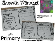 Lisa here, from Growing Firsties & I'm going to share a little bit about Growth Mindset today, which is based on Stanford University psychologist Carol Dweck's work. With a growth mindset, Growth Mindset Lessons, Growth Mindset Classroom, Elementary Guidance Lessons, Expeditionary Learning, Emergent Literacy, Reading Resources, Teacher Resources, Mind Up, Student Motivation