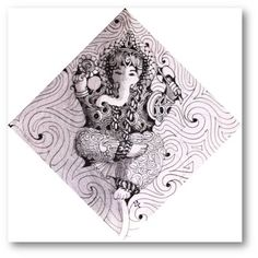 By Maria Thomas! Co-creator of Zentangle! The Z-Ganesha image is created by Maria. Tangle Doodle, Tangle Art, Doodles Zentangles, Zen Doodle, Create Picture, Lord Ganesha, Art Journaling, Art Forms, Tangled