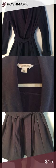Navy Blue Cardigan Great weight and belt and pockets detail. EUC gander mountain Jackets & Coats Utility Jackets