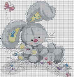 Conejo y ratón. Punto de cruz. Más