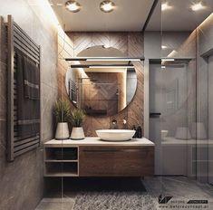 Bathroom Design Luxury, Modern Bathroom Decor, Modern Bathroom Design, Interior Design Kitchen, Small Bathroom, Bathroom Design Inspiration, Interior Inspiration, Restroom Remodel, Toilet Design