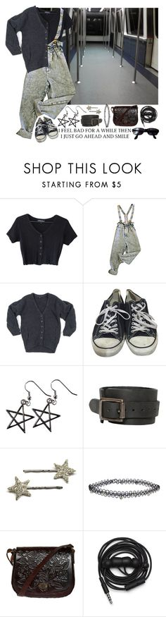 """""""when I see you cry, yeah it makes me smile"""" by junkie-cosmonaut ❤ liked on Polyvore featuring Alexander Wang, Converse, AllSaints, Miss Selfridge, Urbanears and Persol"""