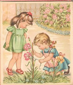 Soloillustratori: Les enfants et les fleurs-Mariapia