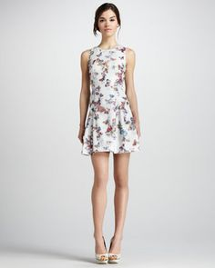 Butterfly-Print Sleeveless Dress by Phoebe Couture at Neiman Marcus.