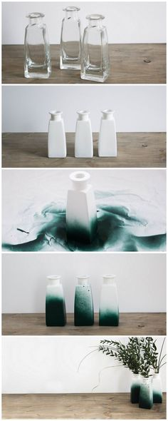DIY Idee Vasen Upcycling mit grüner Sprühfarbe | Do it yourself idea | flower ... - Diy Deko Ideen