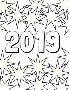 New Year 2019 Coloring Pages For Teens And Adults Middle School
