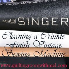Sewing Machines Best Learn how to clean a Godzilla or crinkle finished vintage sewing machine. - Learn how to clean a Godzilla or crinkle finished vintage sewing machine. Sewing Machine Repair, Sewing Machine Parts, Sewing Machine Reviews, Easy Sewing Projects, Sewing Hacks, Sewing Tutorials, Sewing Ideas, Sewing Designs, Sewing Class