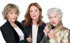 As Jane Fonda, Helen Mirren and Julianne Moore lend their faces to L'Oréal's Age Perfect range, they talk exclusively about their perceptions of ageing and finds out why they're feeling more creative and confident than ever. Helen Mirren, Jane Fonda, Julianne Moore, Ageing, Loreal, Confident, The Secret, Range, Young Julianne Moore