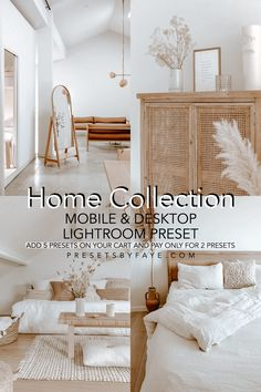 10 Home Collection Presets/Mobile and Desktop/Lightroom Presets What Is Lightroom, Lightroom Presets, Instagram Ideas, Instagram Feed, Bohemian Living, Vsco Filter, Home Collections, My Dream Home, Home Interior Design