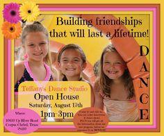 Saturday, August 17, 2013 1-3pm Teffany's Dance Studio Open House!