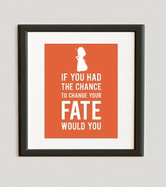 If You Had The Chance To Change Your Fate Would You - Disney Princess - Merida - Brave print- Carrot Color