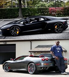 CARS CARS CARS – #LeBronJames certainly knows how to spend his millions! Check out his car collection by hitting the sweet black #Lamborghini...
