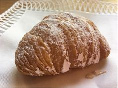 A wonderful Sfogliatelle pastry. Buy at Lunardi's market now that Cafe Sienna is no longer in town. Yummy Food, Restaurant, Bread, Delicious Food, Diner Restaurant, Brot, Baking, Breads, Restaurants
