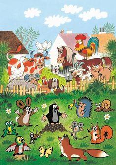 (2014-08) Muldvarpen omringet af bondegårdsdyr