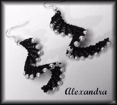 Turquoise Stardust Earrings - Micro Macrame - by LX Micro Macrame, Crochet Necklace, Turquoise, Earrings, Handmade, Jewelry, Crochet Collar, Jewellery Making, Stud Earrings