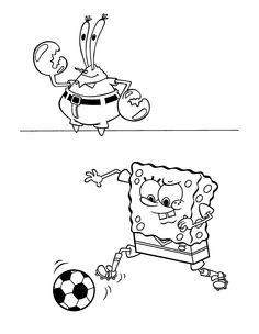 Desenhos para pintar Bob Esponja 69