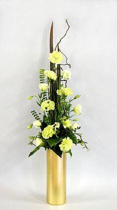 vertical floral arrangement - Google Search