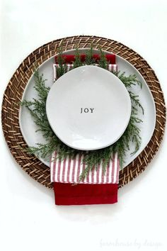 My Simple Christmas Table - Farmhouse by Design